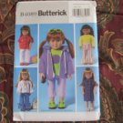 "Butterick 4089 American Girl 18"" Doll clothes pattern  NEW FLARE PANTS, HOODY, 70""S TOP, T-SHIRT"
