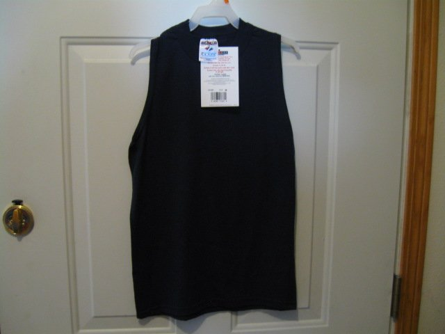 Jerzees brand navy blue muscle shirt tank top Boys size 10/12 NEW with tag