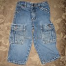 Levi Strauss Signature Size 18 months medium blue denim cargo jeans Toddler