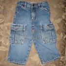 Levi Strauss Signature Size 18 months medium blue denim cargo jeans Toddler