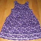 McKIDS GIRL'S SIZE 7 PURPLE DRESS CORDUROY JUMPER WITH LAVENDER ROSES PRINT NEW WITH TAG