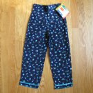 McKids Size 5 navy corduroy pants with turquois roses print NEW with tag