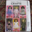 "McCALL'S 6005 AMERICAN GIRL 18"" DOLL CLOTHES PATTERN NEW COAT, DRESS, PJs, BOOTIES, TUTU"