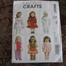 "McCall's 6257 American Girl 18"" Doll clothes pattern NEW VEST, BOOTS, LEOTARD, DRESS, MITTENS"