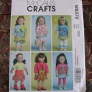 "McCALL'S 6370 AMERICAN GIRL 18"" DOLL CLOTHES PATTERN MODERN RUFFLED SKIRT, LEGGINGS, SHRUG NEW"