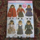 "Butterick 5587 American Girl 18"" Doll clothes pattern NEW CAPE, KNITTED SWEATER, DRESS, JUMPER"