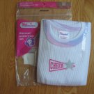Girl Connection Size 10 long janes thermal underwear NEW in package White w/ pastel comoflague trim