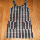 OLD NAVY WOMEN'S SIZE 8 RED AND GREEN PLAID JUMPER NEW WITH TAG FALL 07