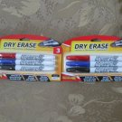 Qty 2 packages DRY ERASE markers Promarx 3 ct bullet tip & Eraser ALL NEW IN PACKAGES