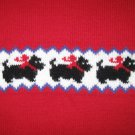 TKS BASICS GIRL'S SIZE 4 T RED SCOTTY DOG SWEATER FROM SEARS CLASSIC, VINTAGE