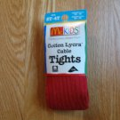 McKids 2T - 4T RED COTTON LYCRA CABLE TIGHTS NEW IN PACKAGE 30-45 LBS.