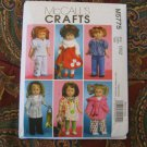 "McCall's 5775 AMERICAN GIRL 18"" DOLL CLOTHES PATTERN NEW COAT, HOODY, DRESS, GLOVES, ROBE"