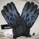 New Sears Ski Snowboard Snow Gloves Blue Flame, rubber palm, Thinsulate