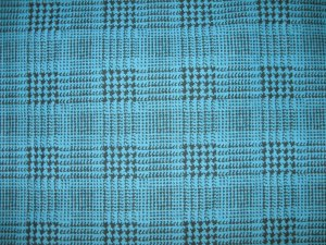 Turquois &amp; black houndstooth print FABRIC FOR McCall&#039;s 6480 SKIRT C: 5/8 of a yard Plus tulle