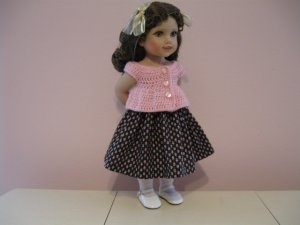 "LIFE OF FAITH 18"" DOLL CLOTHES AMERICAN GIRL REBECCA, MOLLY PINK TULIP PRINT SKIRT"
