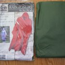 OLD MILL RAIN PONCHO olive green ONE SIZE FITS ALL NEW IN PACKAGE with hood