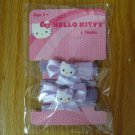 HELLO KITTY 4 PONIES (pony tail holders) LAVENDER NEW IN PACKAGE