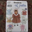 "Simplicity 5420 American Girl 18"" Doll clothes sewing pattern NEW Design Your Own DISCONTINUED"