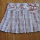 MARY KATE & ASHLEY  GIRL'S SIZE 7 PINK & IVORY STRIPED PLEATED SHORT SKIRT