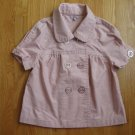 SASHIMI ADULT SIZE 4 (Youth 10-12) MAUVE PINK JACKET BLAZER SHORT SLEEVE DOUBLE BREASTED
