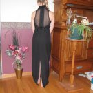 ROBERTA ADULT SIZE 3 / 4  BLACK MUSIC RECITAL PERFORMANCE OR PARTY DRESS SLEEVELESS EVENING WEAR