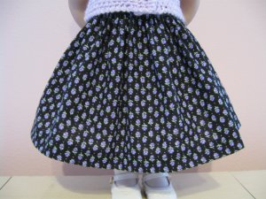 "AMERICAN GIRL 18"" DOLL CLOTHES LAVENDAR TULIP PRINT SKIRT REBECCA, MOLLY  LIFE OF FAITH"