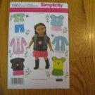 "Simplicity 1902 American Girl 18"" Doll clothes sewing pattern NEW"