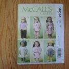 "McCall's 6526 American Girl 18"" Doll clothes pattern NEW MODERN SPRING OUTFITS"