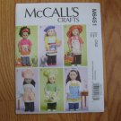 "McCall's 6451 American Girl 18"" Doll clothes pattern NEW APRONS, HATS, HEADBANDS, CAT"