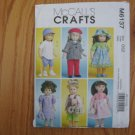 "McCALL'S 6137 AMERICAN GIRL BOY 18"" DOLL CLOTHES PATTERN NEW SPRING OUTFITS, BASEBALL SHIRT AND CAP"