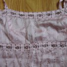 AMERICAN EAGLE OUTFITTERS ADULT SIZE 4 CAMISOLE TOP STRAPS PINK BEADED FEMININE