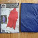 OLD MILL RAIN PONCHO blue ONE SIZE FITS ALL NEW IN PACKAGE with hood