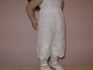 "AMERICAN GIRL CAROLINE 18"" DOLL CLOTHES WHITE EYELET PANTALOONS, BLOOMERS GRACE  LIFE OF FAITH"