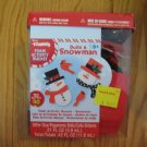 DARICE FOAMIES CRAFT FOAM ACTIVITY BUCKET WINTER CHRISTMAS SNOWMAN NEW IN PACKAGE MAKES 40