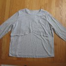ON SCHEDULE WOMEN'S SIZE XL NURSING TOP BREASTFEEDING SHIRT LONG SLEEVE CROSSOVER