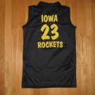 KAEPA ADULT SIZE M BLACK IOWA HAWKEYE ROCKETS # 23 SLEEVELESS JERSEY SHIRT, TOP