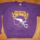 VIKINGS SWEATSHIRT MENS SZ 42-44 PURPLE MINNESTOA VIKINGS 1970&#39;S VINTAGE ERA # 89 NFL