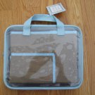 DRITZ EZ VIEW CASE WITH APRON NEW IN PACKAGE BROWN & BABY BLUE