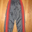 SPORTRAX SIZE L (14 - 16) ATHLETIC PANTS CHARCOAL W/ ORANGE STRIPE & SNAPS UNISEX, BOYS, GIRLS