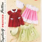 SIMPLICITY 2392 1950&#39;s VINTAGE RETRO GIRL&#39;S DRESS & BONNET SEWING PATTERN NEW & UNCUT