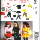 "McCALL'S M 6669 AMERICAN GIRL18"" DOLL CLOTHES PATTERN MODERN SKIRTS, TOP, LEGGINGS, DOG NEW"