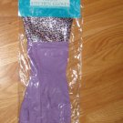 FASHION KITCHEN GLOVES LAVENDAR LEOPARD NEW IN PACKAGE HANCOCK'S FABRICS GLAMOUR CLEANING GLOVES