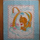 CARE BEARS 1985 VINTAGE BRAVE HEART LION LOVE CHEATER QUILTED PANEL 35 X 45 NEW QUILT WALL HANGING