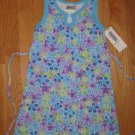 TEAZE GIRL'S SIZE 4 LAVENDER, AQUA & LIME 70'S FLOWER POWER PRINT DRESS SLEEVELESS PARTY EASTER NEW