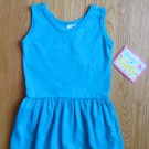 SPENCER'S GIRL'S SIZE 3 T TURQUOISE KNIT SUN DRESS SLEEVELESS PARTY NEW W/ TAG