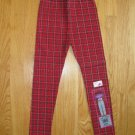 BASIC IMAGE GIRL'S SIZE 4 / 5 CLASSIC LEGGING RED, BLACK & WHITE PLAID NEW WITH TAG