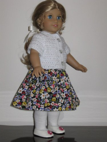"AMERICAN GIRL SAIGE, LANIE 18"" DOLL CLOTHES BLACK PRINT SKIRT LIFE OF FAITH"