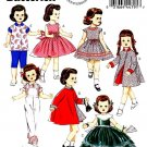 "BUTTERICK  5865 18"" DOLL CLOTHES PATTERN NEW RETRO 1956 DRESS, COAT, TOP PANTS UNCUT"