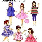 "BUTTERICK  5864 18"" DOLL CLOTHES PATTERN NEW RETRO 1956 DRESS, COAT, SLIP & BLOOMERS UNCUT"