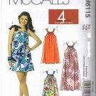 McCALL'S 6115 WOMEN'S PILLOWCASE DRESS SEWING PATTERN NEW & UNCUT DRAWSTRING SUNDRESS SZ EE (14-20)
